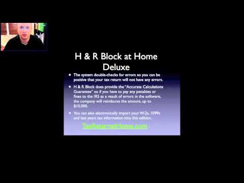 H & R Block at Home Deluxe 2012, 2013