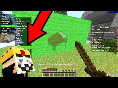 HACK DO BEDWARS: DESTRUA CAMAS SEM QUEBRAR BLOCOS! Minecraft