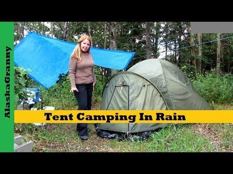 Tent Camping In Rain