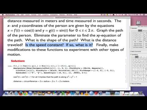 Multi Calc, Part 4 (Graphing parametric curves defined by basic trigonometric functions)