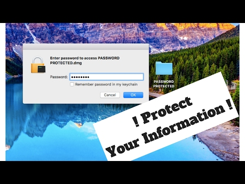 How To Password Protect Any Folder, Mac 2017!