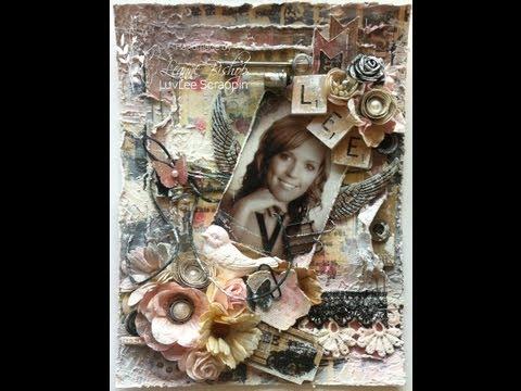 Romance Novel Mini Album Page for Bev