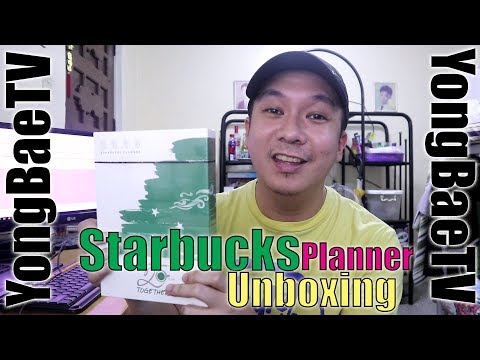 Starbucks Planner 2018 Unboxing | Philippines | YongBaeTV