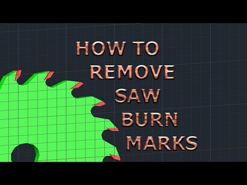 Beginner Woodworking Tip-How to Remove Saw Burn Marks