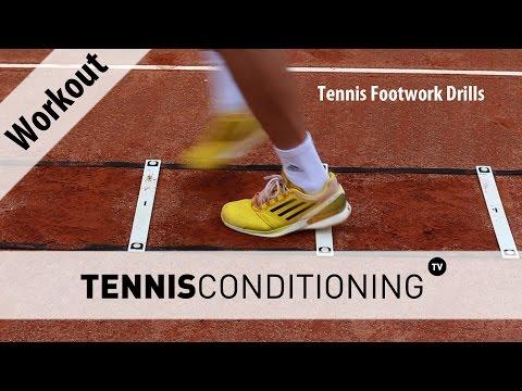 Tennis Footwork Drills   Tennis Conditioning