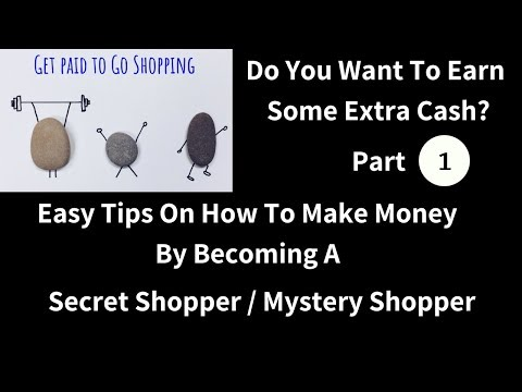 The How To Guide To Making Money By Becoming A Mystery Shopper / Secret Shopper