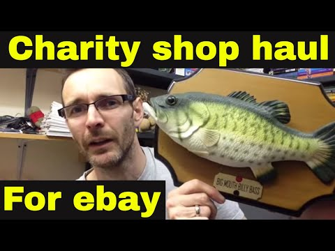 Charity shop haul - How to make money on ebay and Amazon