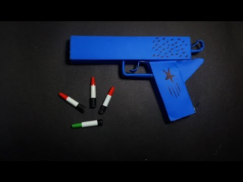 | DIY | How To Make a Paper ' Blue Star Gun' That Shoots Paper Bullets-Toy Weapons- By Dr. Origami