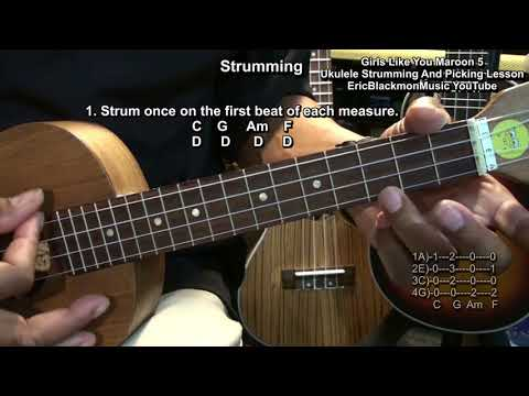 How To Play GIRLS LIKE YOU Maroon 5 Cardi B On Ukulele Chords Riffs & Strumming Lesson