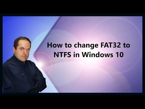 How to change FAT32 to NTFS in Windows 10