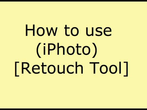 How to use iPhoto Retouch Tool