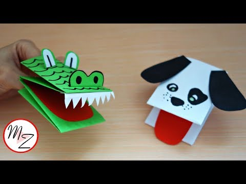 How to make a hand puppet from one sheet of paper | Animal hand puppets DIY | Maison Zizou