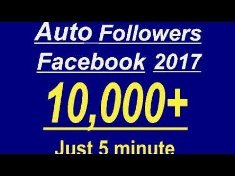 Auto Follower FB 2017 Free Followe