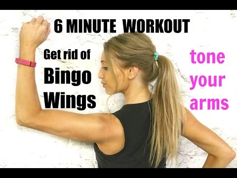 Get Rid of Bingo Wings- tone and sculpt your arms in without any weights and feel it working