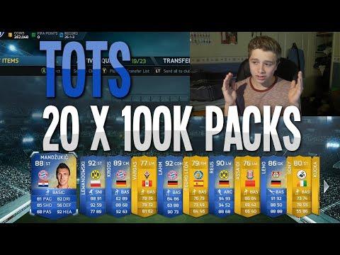 FIFA 14 - TOTS 20 x 100k Packs | HUGE Pack Opening!