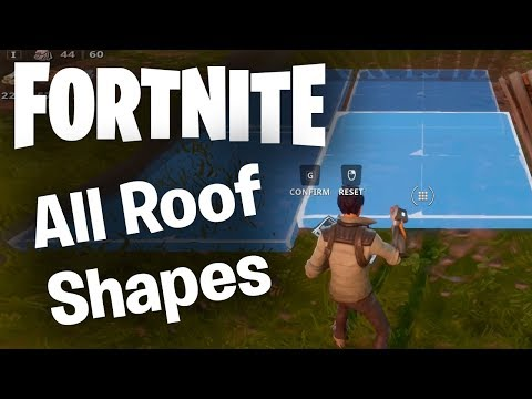 Fortnite Building Guide: All Roof Shapes & Pyramid Parts