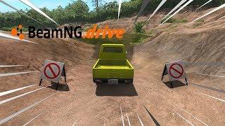 BeamNG drive - TRILHA COM CARRO DE 3 RODAS.