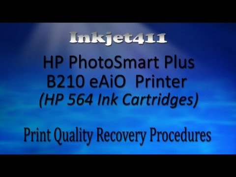 HP PhotoSmart Plus B210 eAiO Printer – Printhead Cleaning (HP 564 Ink Cartridges)