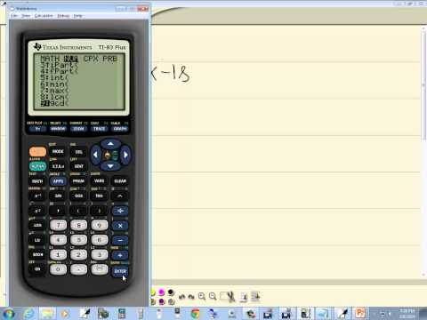 Technology in College Algebra - Finding GCF of Two Numbers - TI-83 Plus