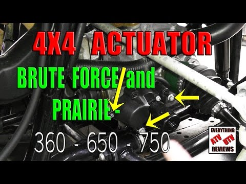 How to remove the 4X4 ACTUATOR motor and gear assembly: Brute Force or Prairie: 360 650 750
