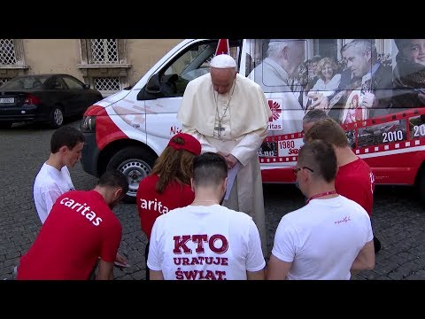 Young Caritas Polish Bus initiative heads out to help Syrian Christians with pope's blessing