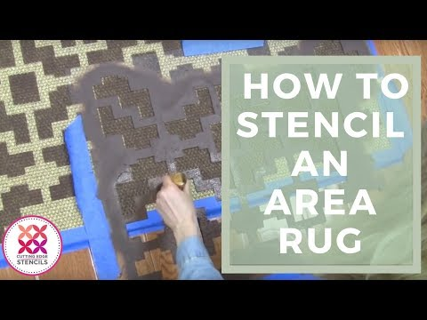 Rug Stencil with Benjamin Moore Paint | Decorating Ideas by Cutting Edge Stencils