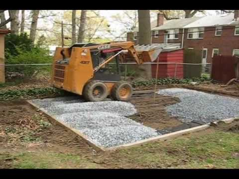 Shed Pad construction (before/during/after)