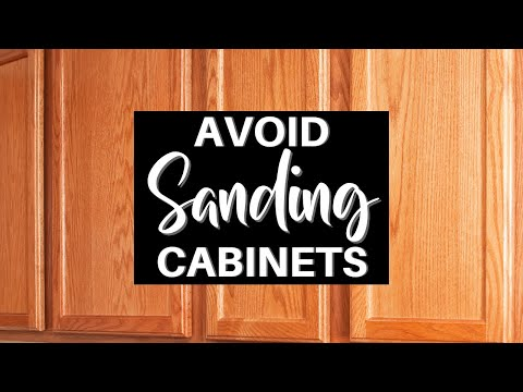 Avoid Sanding When Prepping Cabinets to be Painted
