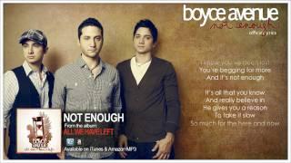 Boyce Avenue - Not Enough (Lyric Video)(Original Song) on Spotify & Apple