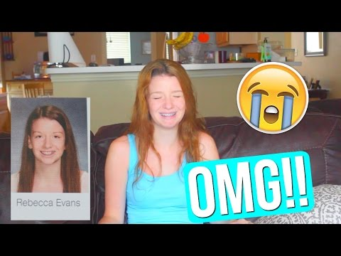 Reacting To My Old Yearbook Pictures!! |Rebecca Evans