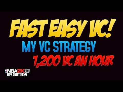 NBA 2k13 How to get around 1200 VC in an hour!