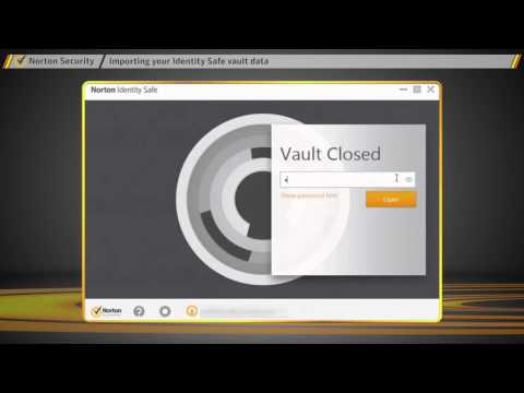 Norton Security   How to import your Identity Safe data