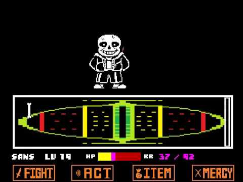Undertale - Beating... myself on First Try (Remake) (Sans First Try)