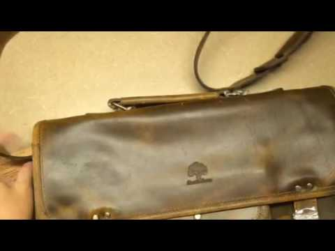 Messenger Leather Laptop Bag  by RusticTown