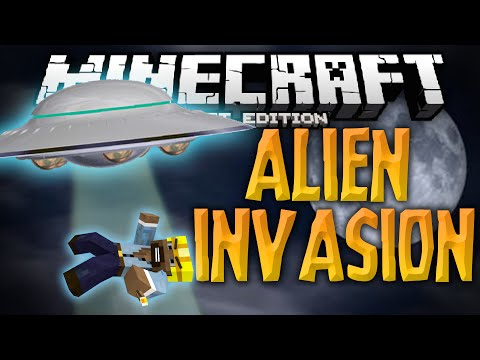 ALIEN INVASION ADVENTURE!!! - The Best Adventure Map Ever! - Minecraft PE (Pocket Edition)