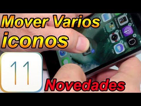 Como mover varios iconos de aplicaciones iOS 11 Mejores Funciones Parte 6