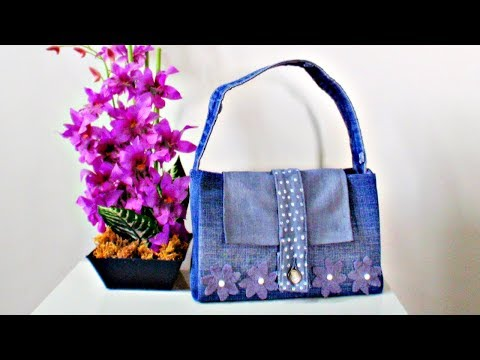 DIY Handbag * How to Make a Bag from Old Jeans *NO SEW