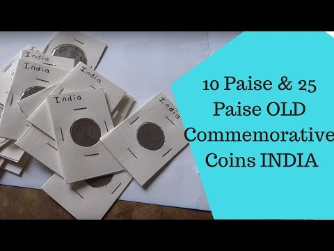 10 Paise and 25 Paise OLD Commemorative Coins  INDIA