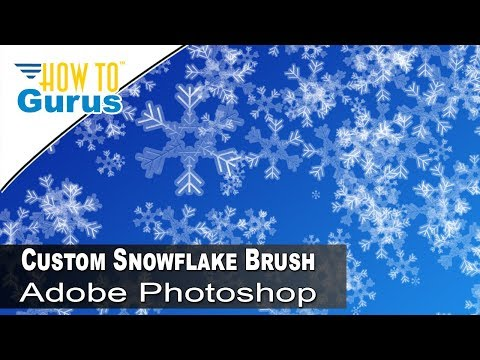 How to Make Custom Photoshop Brushes : Create a Snowflake Brush in CC 2018 CS6 CS5 Tutorial