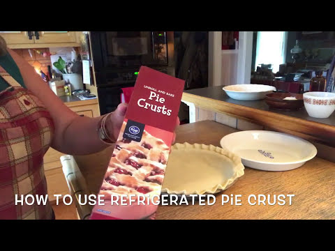 How to use REFRIGERATED PIE CRUST