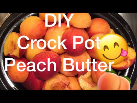 Easy DIY Crockpot Peach Butter