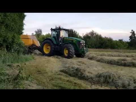 Tractor Hay Baling in Derbyshire - July 2016
