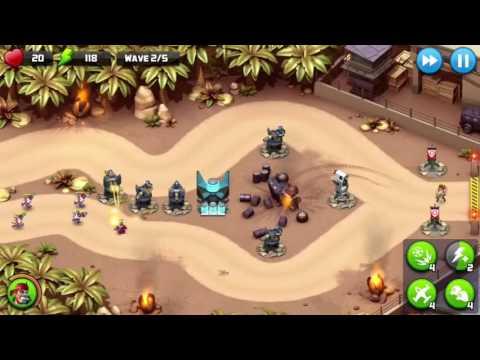 Alien Creeps gameplay