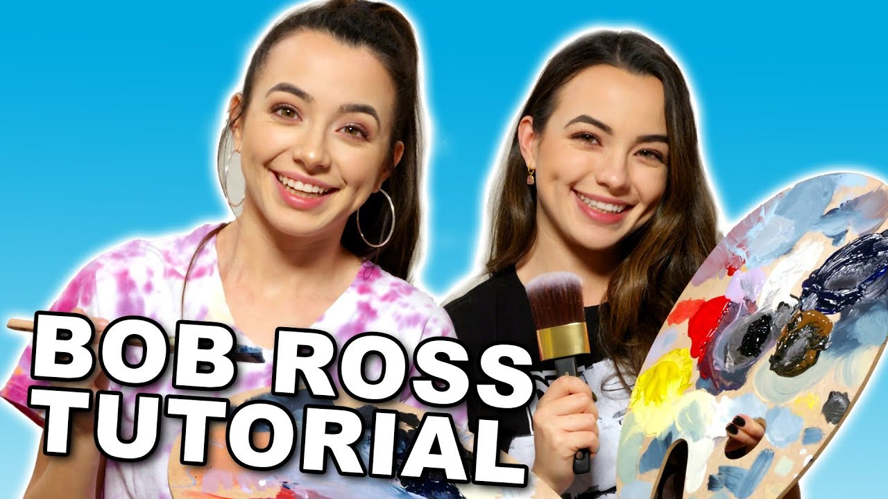 Following a Bob Ross Tutorial with Only Audio - Merrell Twins - (not ASMR)