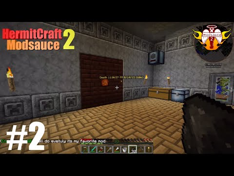 Modsauce 2 - Ep 2 - Tinkers Smeltery, Blast Furnace, Steel Hammer!