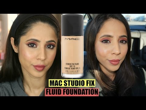 MAC Studio Fix Fluid Foundation NC40 Review & 9-Hour Wear Test | Combination/Oily Skin | MAC NC40