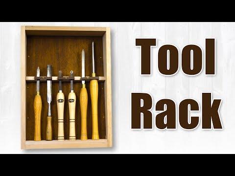 How to Make a Tool Rack / Woodturning Tool Holder