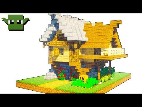Minecraft Medieval Small House Tutorial (EASY 5X5 BUILDING SYSTEM)
