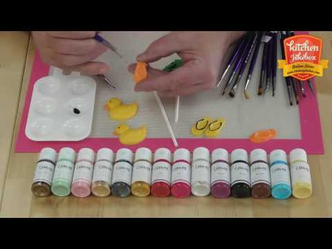 Paint on Chocolate using Edible Art Paint with