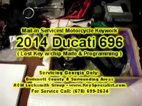 2014 Ducati 696 Monster - Ducati Lost Key Replacement & Chip Programming. By Mail-in services.